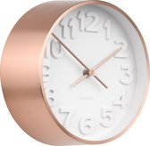 Wall clock Stout steel copper plated