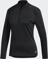 adidas Response Climawarm 1/2 Zip W Sportshirt Dames - Zwart