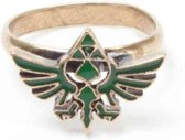 Zelda - Ring with green Triforce logo - S