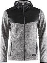 Craft Breakaway Jersey Hooded Jacket Heren - Dk Grey Melange - Maat M