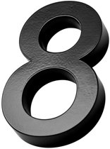 Xaptovi 3D Huisnummer 8 Materiaal: RVS - Hoogte: 20cm - Kleur: Zwart