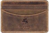 Visconti Leren Kaarthouder - Compacte Portemonnee - Unisex - Leer- 4 Pasjes - Slim Collectie - Bruin (VSL24 TN)