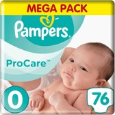 Pampers Premium Protection Pro Care - Maat 0 - 76 luiers