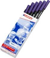 edding-4200 porselein brushpen violet  1Stuks 1-4 milimeter /  4-4200008