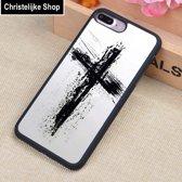 Jezus Christus Kruis |  iPhone 7, 8 | Zwart TPU hoesje | Extra Grip + Schokbestendig