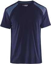 Blåkläder 3379-1042 T-shirt Bi-Colour Marineblauw/Grijs maat M