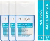 L'Oréal Paris Skin Expert Oog- & lipmake-up Remover Waterproof - 3 x 125 ml - Voordeelverpakking