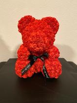 Rozenbeer van rode kunst rozen 40cm Valentijnsdag/Moederdag/Verjaardag rose bear