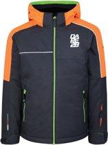 Dare 2b Labyrinth Ski Jas Junior Wintersportjas - Maat 176  - Unisex - grijs/oranje/groen
