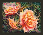 Artibalta Diamond painting Pakket Rose Abstraction AZ-1393, abstracte rozen 50 x 40 cm