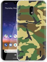Nokia 2.2 Hoesje Army Camouflage Green