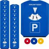 relaxdays 20 x parkeerschijf - winkelwagenmuntjes - ijskrabber – parkeerkaart