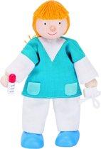 Goki Houten buigpopje verpleegster 11cm