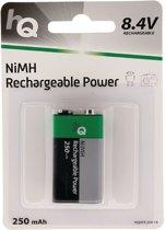 Rechargeable NiMH 9 V battery 250 mAh, 1-blister