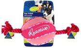 Reactive Rope Football Roze hondenspeeltje met flosstouw,