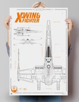 STAR WARS EPISODE VII THE FORCE AWAKENS x-wing  - Poster 61 x 91.5 cm