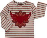 Room Seven Meisjes Shirt Lichtblauw met streep en print - RS61 - Maat 74
