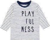 Name it jongens t-shirt lange mouwen ecru NITdijon - maat 56