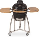 "Patton Kamado Grill - Keramische barbecue - incl. Bluetooth thermometer - incl. LED light - 16"" - Zwart"