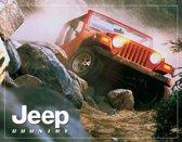 Jeep Country, Metalen wandbord 31.5x41.5cm