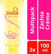 Zwitsal Baby Zachte Crème - 3 x 100 ml - Voordeelverpakking