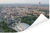 Luchtfoto van de Duitse stad Braunschweig Poster 90x60 cm - Foto print op Poster (wanddecoratie woonkamer / slaapkamer) / Europese steden Poster