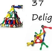 Magneetpuzzel 3D – 37 Delig Puzzel – Magnetisch Spel – Maak Vormen met Magneten