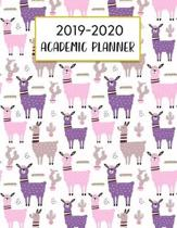 2019-2020 Academic Planner: Llama Theme Pattern August 2019 to July 2020 Weekly & Monthly View Planner, Organizer For Students And Teachers