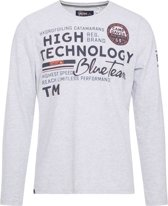 Camp David ® T-Shirt met ronde hals en lange mouwen, wit uit de
