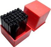 36 Delige 5mm slagletter / cijfer set A t/m Z & 0 t/m 9 slagletterset letter