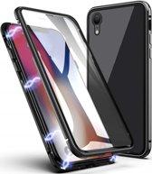 Xtreme Stevige Hardcase voor Apple iPhone XR - Metalen behuizing - Voor en Achterkant van Gehard Glas - Magnetische Sluiting - Shockproof Armor - Hybrid 360 graden