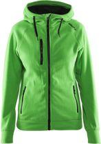 Fleece Hood women Craft green l