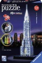 Ravensburger Chrysler Building Night Edition - 3D Puzzel gebouw van 216 stukjes