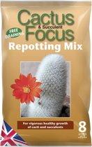 Cactus & Succulent Focus Repotting Mix - 8 liter potgrond voor een gezonde groei van cactussen en succulenten