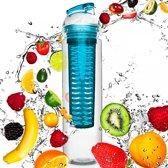#DoYourFitness - Fruitwater fles - »FruitBottle« - Fruit infuser voor fruitpunches / groente spritzers - 800ml - blauw