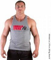Gorilla Wear Classic - Fitnesstop - Heren - Maat XL - Grijs