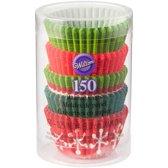 Wilton MINI Cupcake Vormpjes Kerstmis pk/150
