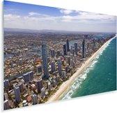 Luchtfoto van de Gold Coast in Australië Plexiglas 180x120 cm - Foto print op Glas (Plexiglas wanddecoratie) XXL / Groot formaat!