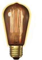Kooldraadlamp Rookglas 60W ST64x135mm E27 Kooldraad Dimbaar