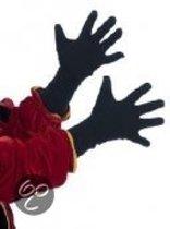Zwarte piet handschoen 40 cm universele volwassenen maat per 2 paar