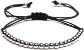 TCKN Touw armbandje - Koord armband - Kralen armband - Zilver