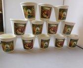 Kaarsen religieus in pot 12 stuks