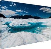 Gletsjer met meer Canvas 80x60 cm - Foto print op Canvas schilderij (Wanddecoratie)