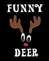 Funny Deer: Deer Elk Antler Hunting Hobby 2020 Monthly Planner Dated Journal 8'' x 10'' 110 pages