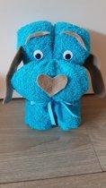 Handdoek Hondje Blauw | Kraamcadeau | Kraampakket | Baby Cadeau