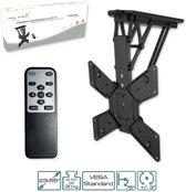 Elektrische TV Plafondbeugel - 32-55 Inch Inklapbaar Met Motor - Zwart