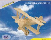 3D Puzzel Bouwpakket Nieuport Vliegtuig - hout