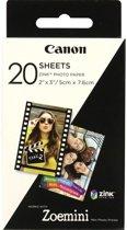 Canon ZINK Zelfklevend Fotopapier - Pak van 20 sheets