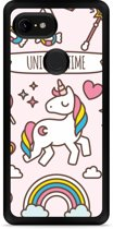 Google Pixel 3 XL Hardcase hoesje Unicorn Time