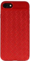 Wicked Narwal | Geweven TPU Siliconen Case voor iPhone 8 Rood